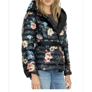 JOHNNY WAS REVERSIBLE DOWN HOODED PUFFER JACKET